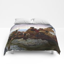 George Washington Crossing Of The Delaware River Painting Comforters