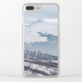 The majesty of Etna volcano Clear iPhone Case