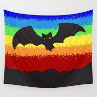 bat Wall Tapestries featuring Bat by wingnang