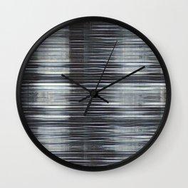 Rain Streaked Metal Stripes Wall Clock