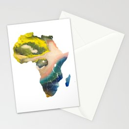 Africa map temperature Stationery Cards