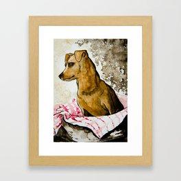 Tater Tot - Mini Pinscher Framed Art Print