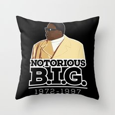 Christopher 'Notorious B.I.G.' Wallace Throw Pillow
