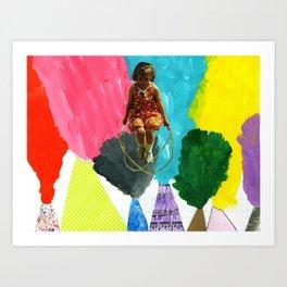 Volcano Jumprope Art Print