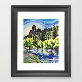 Light Runs Through It Framed Art Print
