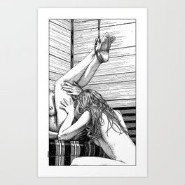 asc 685 - Les jambes en l'air (Tonight so high with you) Art Print