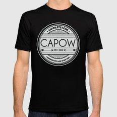 CAPow Art & Design Seal Black Mens Fitted Tee MEDIUM