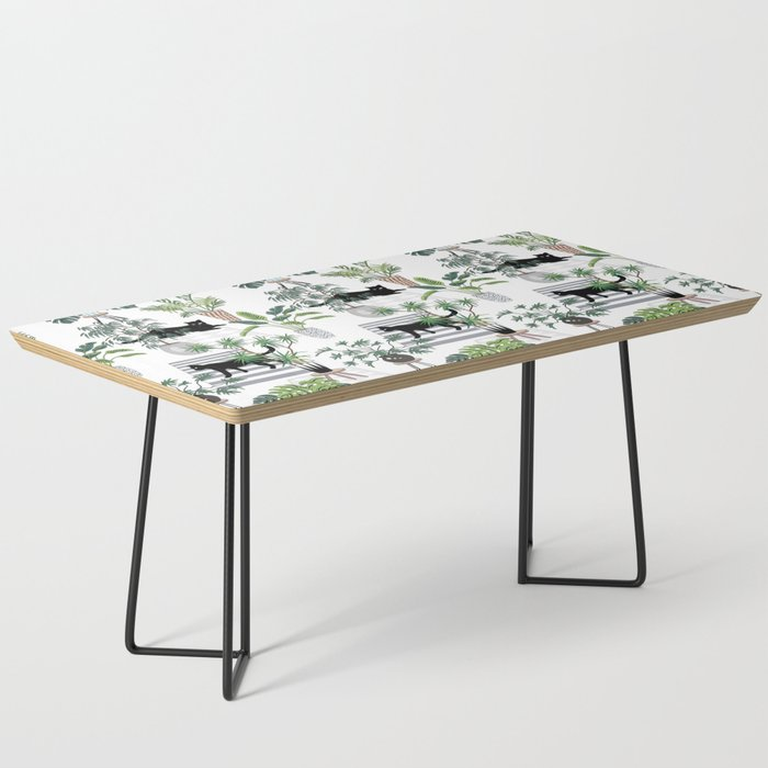 cats in the interior pattern Coffee Table