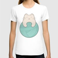 knit T-shirts featuring knit cat by kim vervuurt