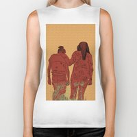 girls Biker Tanks featuring Girls by Nahal