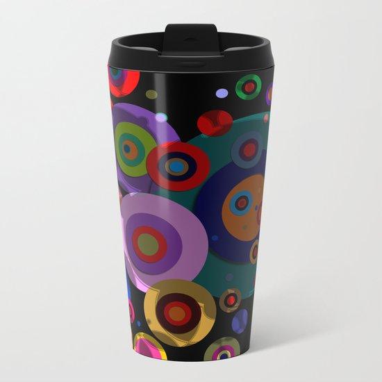 Abstract #320 Circles & Shadows Metal Travel Mug
