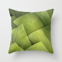 grass Throw Pillows featuring Grass by Yevheniia Hlova