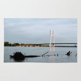 Mississippi River at Burlington, Iowa Rug