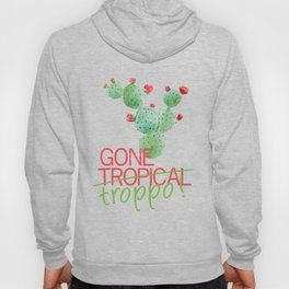 Gone Tropical (on Very Dark Green) Hoody