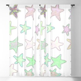 Fun Pastel Stars! Blackout Curtain