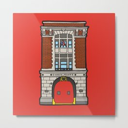 Ghostbusters Fire Station Metal Print