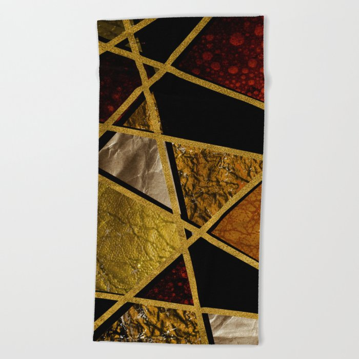 Abstract #468 Beach Towel