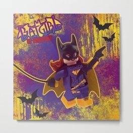 Brick Batgirl of Burnside Metal Print