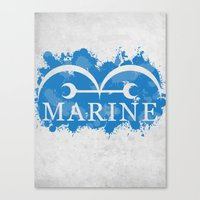 marine Canvas Prints featuring Marine by rKrovs