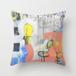 Abstract Mixed Media Compositon V.3.5 Throw Pillow