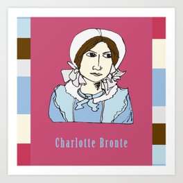 Charlotte Bronte - hand-drawn portrait Art Print