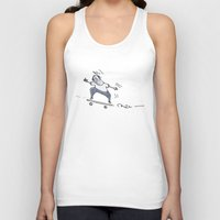 skate Tank Tops featuring Skate! by Nat Samson