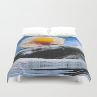 egg Duvet Covers featuring Weird Egg by John Turck
