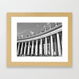 Vatican Columns  Framed Art Print