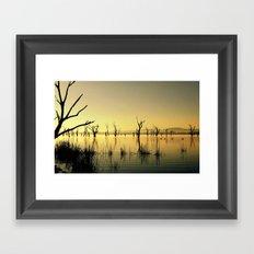 The Golden Lake Framed Art Print