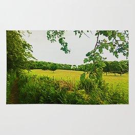 Parbold Hill (Digital Art) Rug
