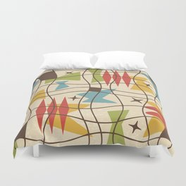 Mid Century Modern Abstract Pattern 571 Duvet Cover