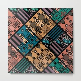 rustic patchwork Metal Print