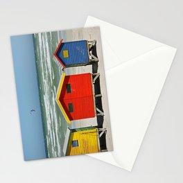 southafrica ... muizenberg beach huts I Stationery Cards