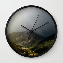 Mountain Rain Wall Clock