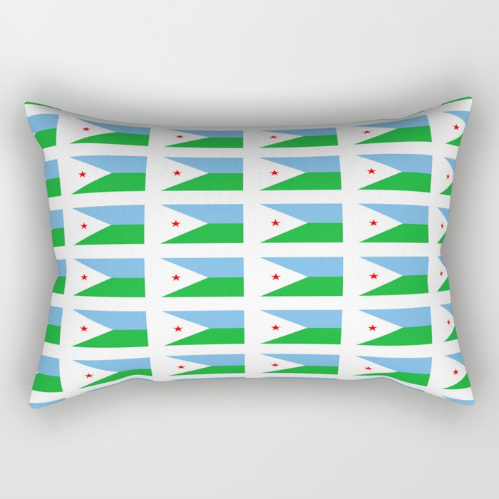 flag of Djibouti -djiboutian,Jabuuti,Gabuuti,Djiboutien,punt,aksum,aden Rectangular Pillow