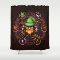 gnome Shower Curtains featuring Gnome  by likelikes