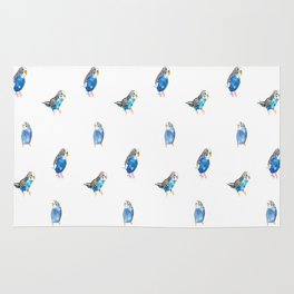 Blue Canaries Rug