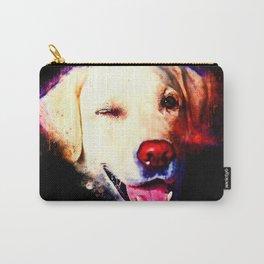 labrador retriever dog winking splatter watercolor Carry-All Pouch