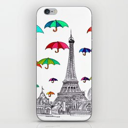 Travel with Umbrella iPhone Skin