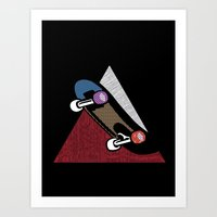 skate Art Prints featuring Skate by Keagraphics