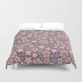 Bloomin' Autumn - floral print Duvet Cover