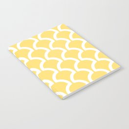 Classic Fan or Scallop Pattern 731 Yellow Notebook