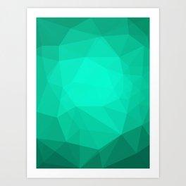 Geometric Polygonal Pattern 01 Art Print