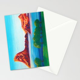 Mountains at Dawn Stationery Cards
