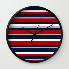 Flag Stripes Wall Clock