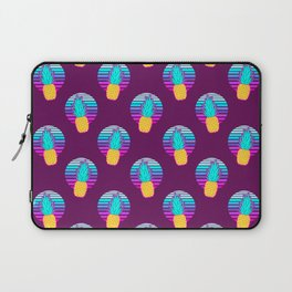 Vaporwave pineapples. Maroon background. Laptop Sleeve