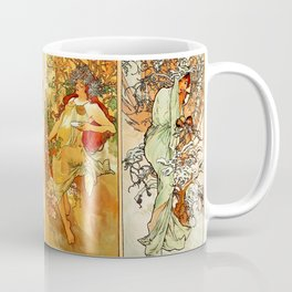 "Alphonse Mucha ""The Seasons (series)"" (1896) Coffee Mug"