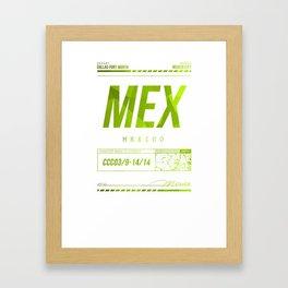 Mex Framed Art Print