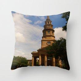 St. Philip's Church Charleston Throw Pillow