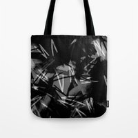 noir Tote Bags featuring Noir by Raluca Ag